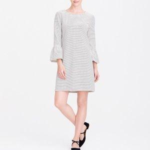 Bell sleeve striped dress